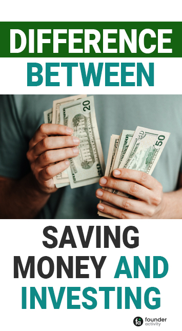Difference between saving money and investing