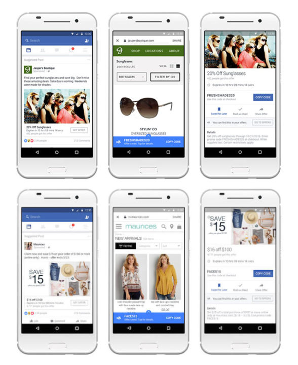 Facebook marketing strategy for small business Offer ads