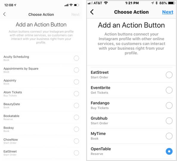 Instagram Marketing Strategy For Small Business Add Action Buttons to instagram account