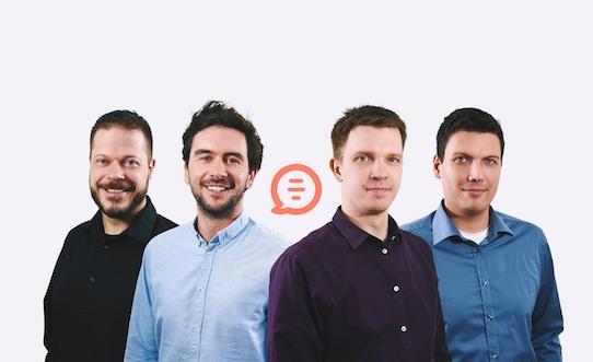 Mit ihrer App wollen die vier Scoolio-Gründer den Schulalltag digitalisieren. Foto: Christian Beyer/PR
