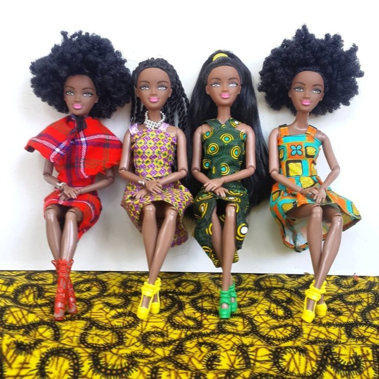 African inspired dolls