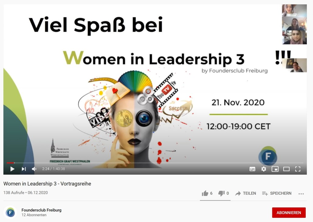 Women in Leadership auf YouTube