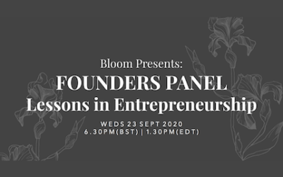 FREE access for F&F Members, to Bloom's Lessons in Entrepreneurship Event
