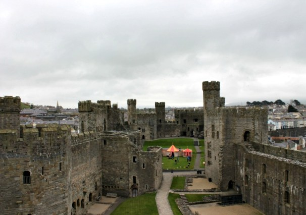 View from Caernarfon Castle, Wales