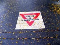 yield (© 2010 Tisha Clinkenbeard)