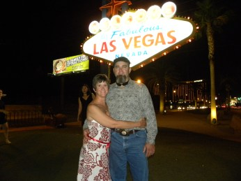 Hubby and I in Vegas for friends wedding