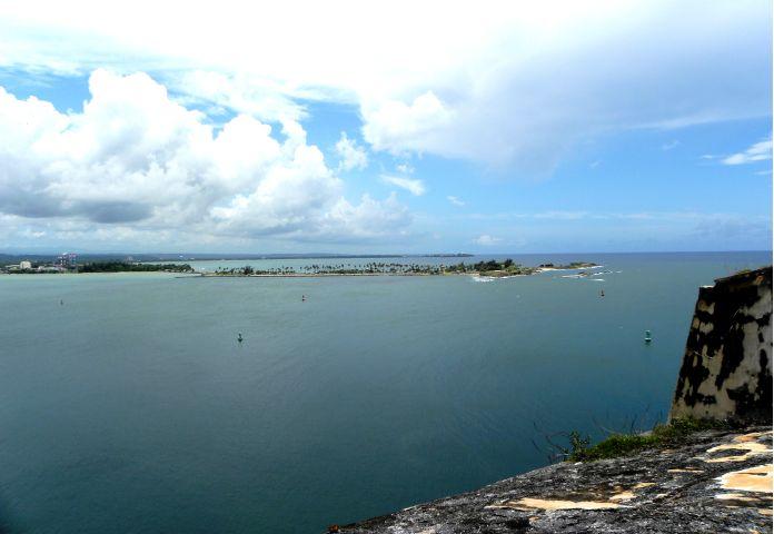San Juan Bay entrance from El Morro