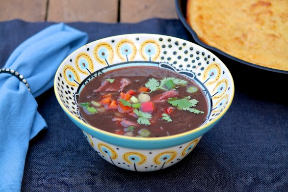 Cuban Black Bean Soup -- slow cooker and stovetop options
