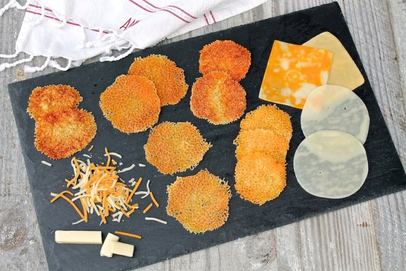 Easy, crowd-pleasing cheese crisps