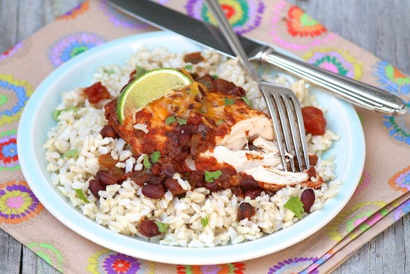 Slow Cooker Cilantro Lime Chicken -- 5 basic ingredients with options to customize