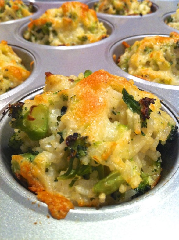 Baked Cheddar Broccoli Rice Cups -- a reader favorite