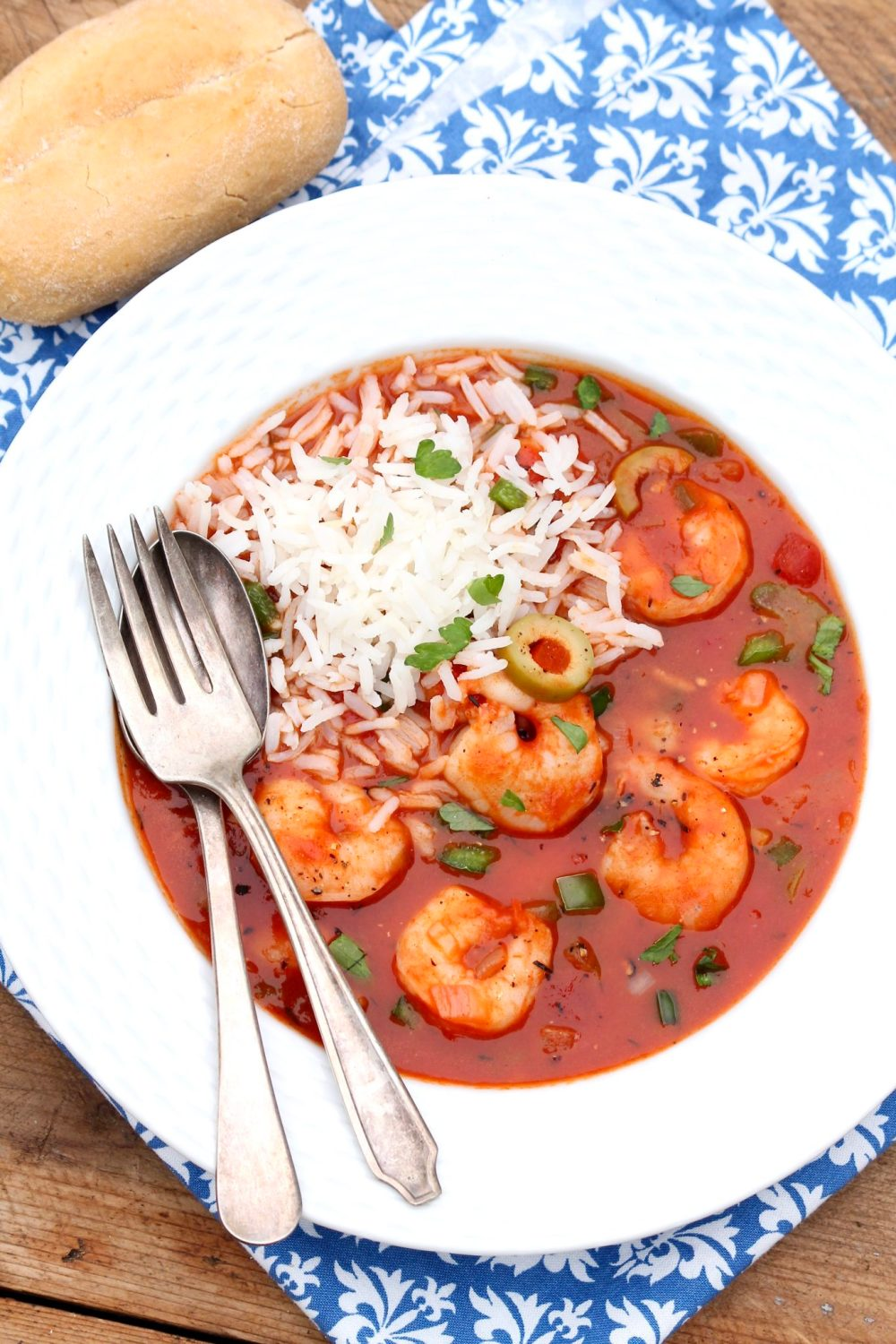 A company-worthy dinner that, with a spoonful of rice and perhaps a crusty roll, is all you need. You can even prepare it the day before and simply add the shrimp just before serving.