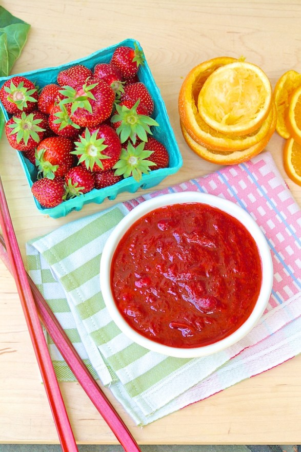 Strawberry Rhubarb Sauce -- just 4 ingredients and so many ways to enjoy!