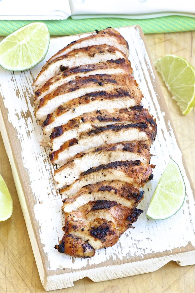 Chili Lime Chicken is perfect as is or for use in burrito bowls and more