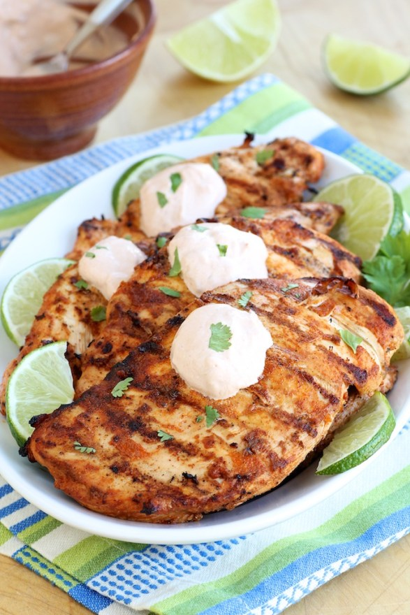 Chili Lime Chicken with Chipotle Lime Crema