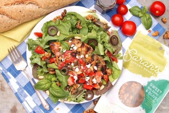 Greek-Style Grilled Chicken Dinner Salad