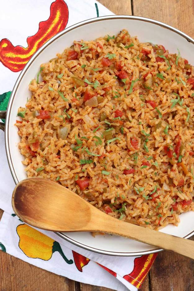 This versatile Spanish Rice recipe is bursting with flavor and can be prepped ahead for added ease at dinnertime!