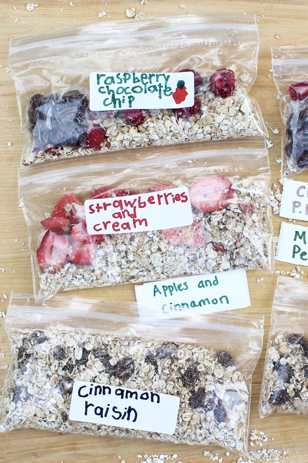 Homemade Instant Oatmeal Packets  ~  Mix and match an extensive list of options to create healthy and economical alternatives to the store-bought packets.  Kid- and adult-friendly!