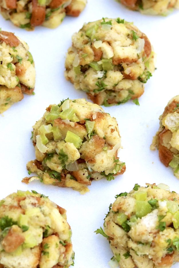 Stuffing Balls -- Clever, portion-controlled, and a surefire hit on a holiday table or alongside a variety of poultry and pork dishes throughout the year. They're easy to make for any size crowd and offer prep-aheadconvenience.