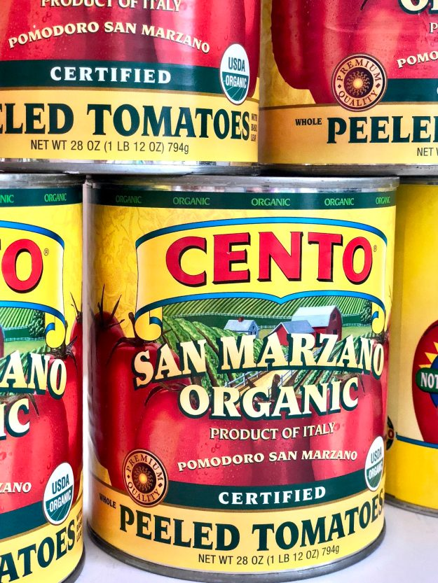 San Marzano tomatoes for Quick Classic Marinara Sauce