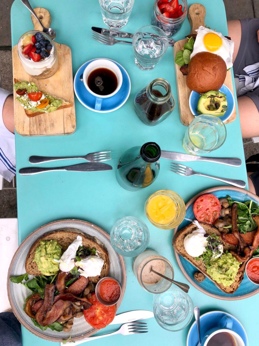 Bluestone Lane breakfast - NYC