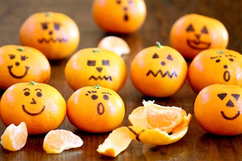 Clementine Jack-o'-lanterns (plus a few other Halloween treats)