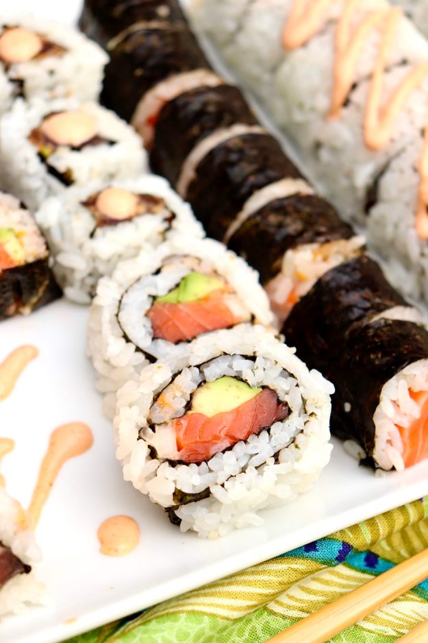 Successful sushi rolling is easy with these step-by-step instructions. Fun for date nights, girls nights, slumber parties & ringing in the new year.