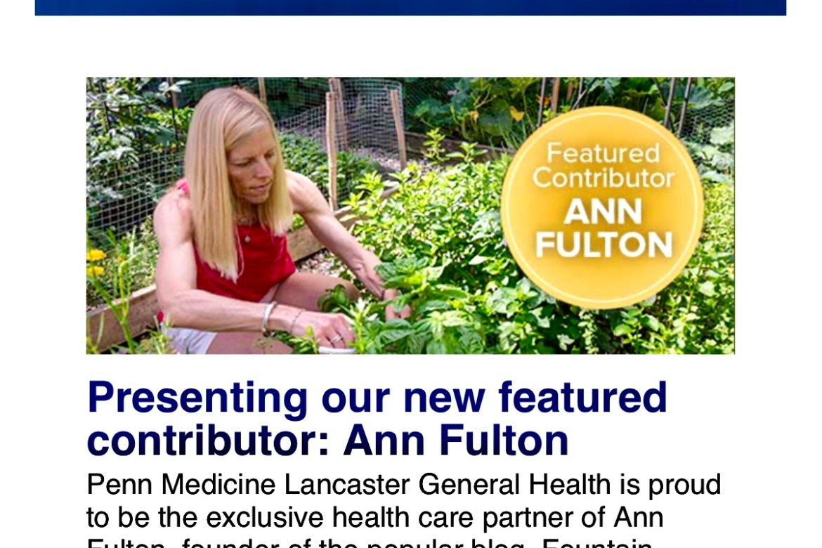Penn Medicine Lancaster General Healthannouncedthat I will be their exclusive health care partner, meaning even more great recipes are coming your way!