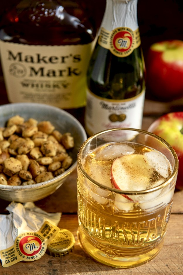 The warm notes of Bourbon complement the sweetness of apples in this lightly effervescent cocktail that takes a mere minute to make. Prefer a mocktail? Just skip the Bourbon!