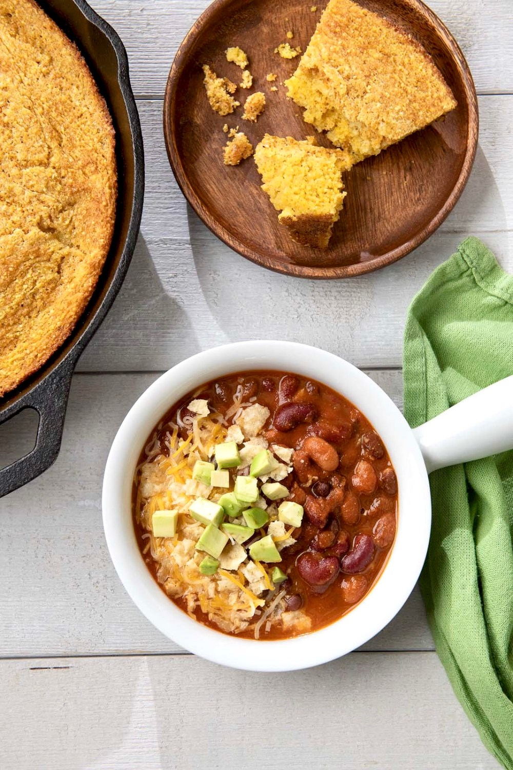 With its flavor-packed, quick-cooking, crowd-pleasing appeal, this meatless recipe defies traditional chili logic and is 100% worthy of the weekly dinner rotation!