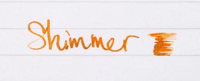 fountain pen ink shimmer diamene inferno orange