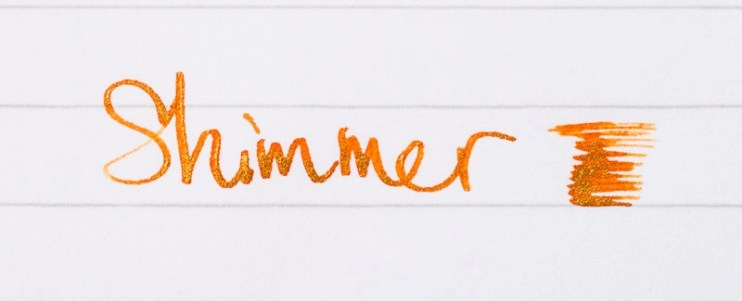 fountain pen ink shimmer diamene inferno orange