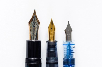 different fountain pen nib sizes pelikan montblanc pilot