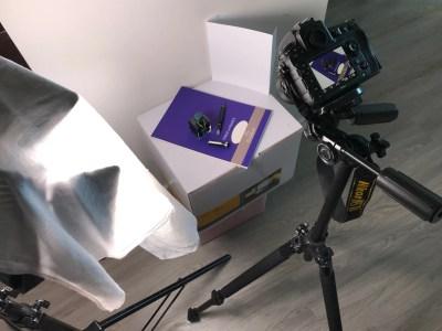 photographing a fountain pen light setup