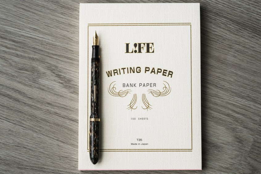 fountain pen friendly life bank paper