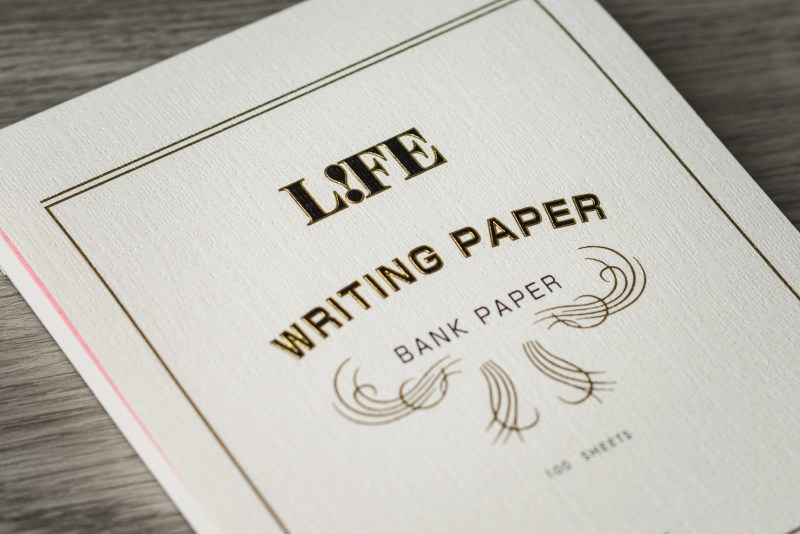 life bank paper cover