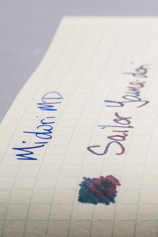 How does paper affect fountain pen ink sheen midori md sheen