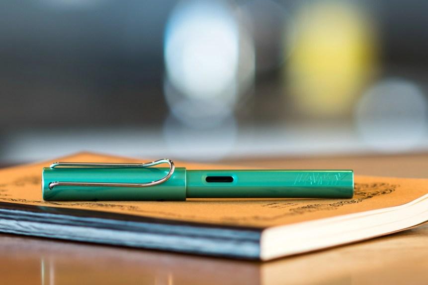 lamy al star green fountain pen photography