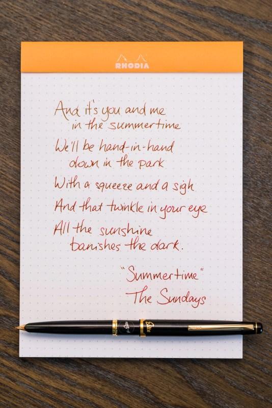 use your fountain pen more often song lyrics pilot elite