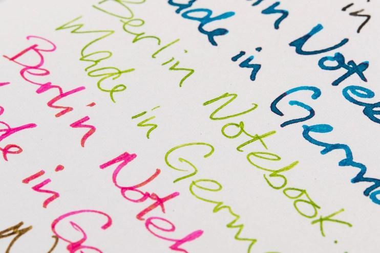 berlin notebook fountain pen friendly paper shading sheen