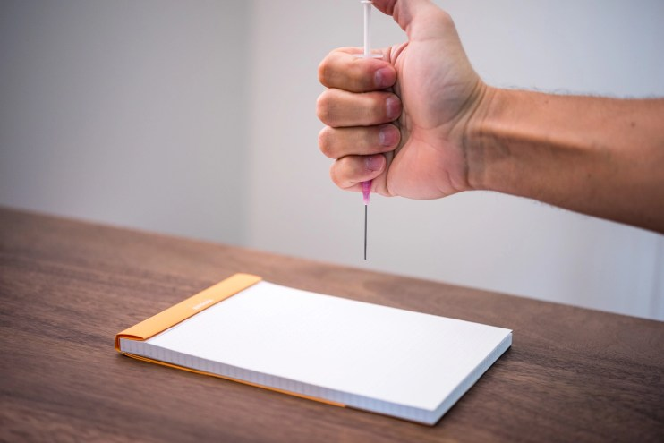 how to make a fountain pen ink splat splatter