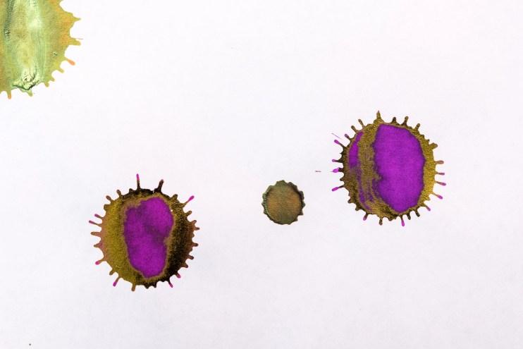 how to make a fountain pen ink splat drop iroshizuku yama budo