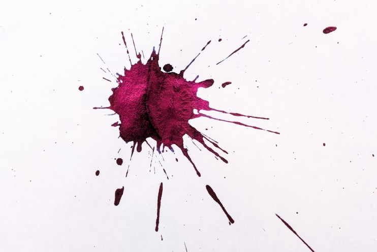 how to make a fountain pen ink splat