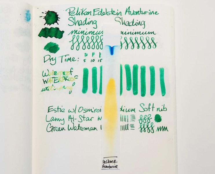 fountain pen ink chromatography comparison