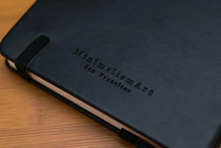 Minimalism Art Notebook Review embossing