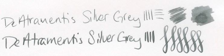 DeAtramentis Silver Grey writing sample