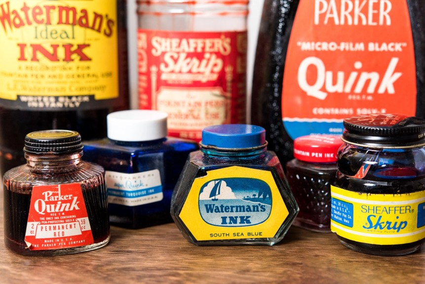 Is it safe to use old fountain pen inks vintage bottles