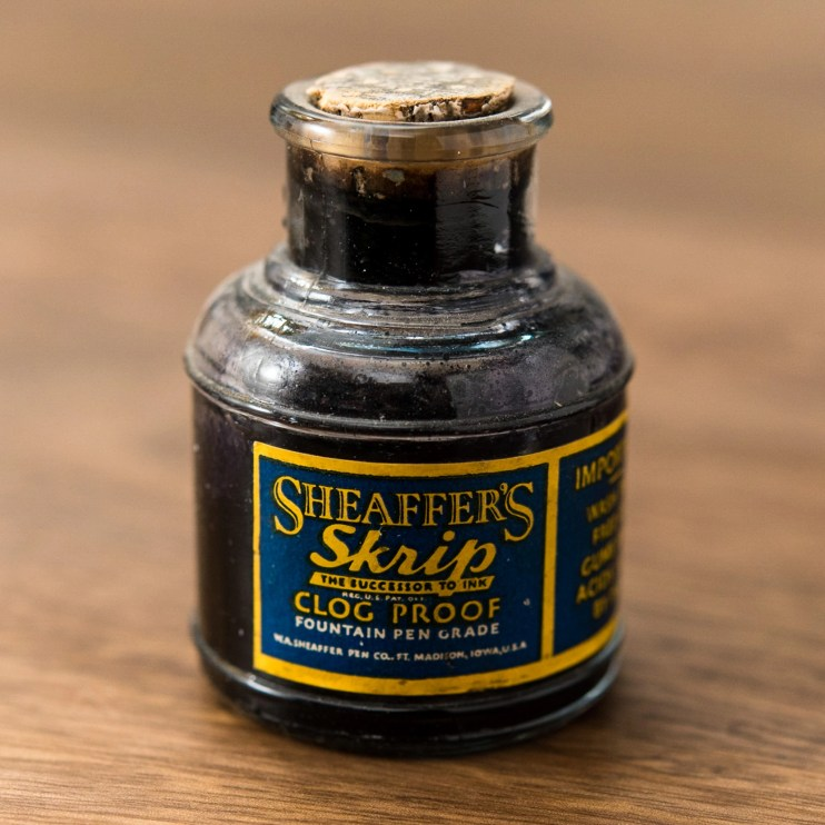 Is it safe to use old fountain pen inks vintage skrip