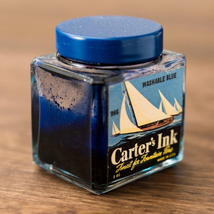 Is it safe to use old fountain pen inks carters cube