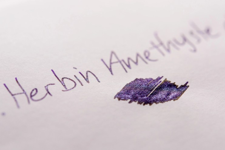 using shimmer ink in fountain pens shimmer purple